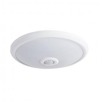 KANLUX 18121 | Fogler Kanlux zidna, stropne svjetiljke svjetiljka okrugli sa senzorom 1x LED 800lm 4000K bijelo