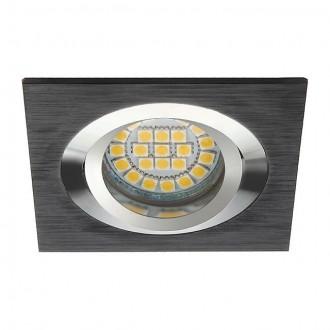 KANLUX 18289 | Seidy Kanlux ugradbena svjetiljka četvrtast pomjerljivo 90x90mm 1x MR16 / GU5.3 crno