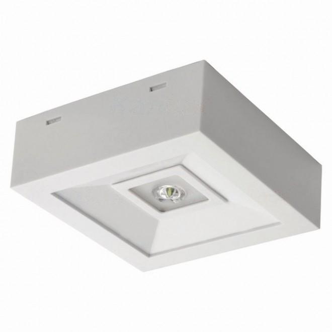 KANLUX 18642 | Tric-Powerled-NT Kanlux panik lampa svjetiljka može se montirati na zid ili na strop 1x LED 200lm 6000-8000K IP41 bijelo