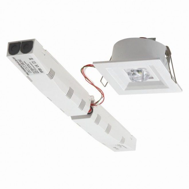 KANLUX 18649   Tric-Powerled-PT Kanlux panik lampa svjetiljka ugradbene svjetiljke 1x LED 200lm 6000-8000K IP41 bijelo