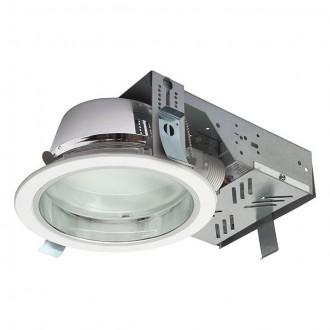 KANLUX 18670 | Perfo Kanlux ugradbene svjetiljke - snažnozračne svjetiljke svjetiljka okrugli Ø195mm 2x G24q-2 / T2U/4P IP44 bijelo