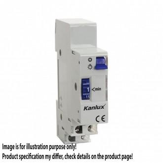 KANLUX 18730 | Kanlux automat za hodnike, stubišta DIN35 modul 1-7M svjetlo siva, ljubičasta