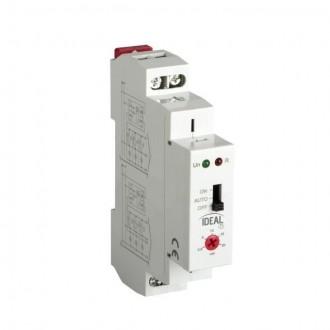 KANLUX 18731 | Kanlux timer DIN35 modul, stubište svjetlo siva, crveno, crno