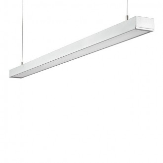 KANLUX 18860 | Lanka Kanlux visilice svjetiljka pravotkutnik 1x G5 / T5 4000K srebrno