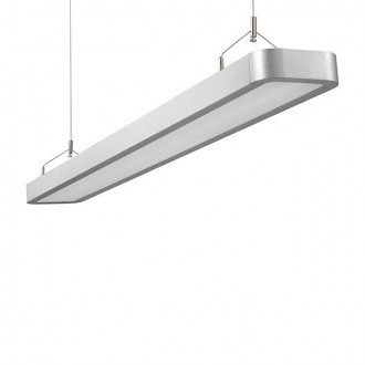 KANLUX 18870 | Lestra Kanlux visilice svjetiljka pravotkutnik 2x G5 / T5 4000K srebrno