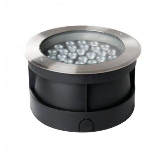 KANLUX 18982 | Turro Kanlux ugradbena svjetiljka okrugli Ø260mm 1x LED 3000lm 4000K IP67 IK10 plemeniti čelik, čelik sivo