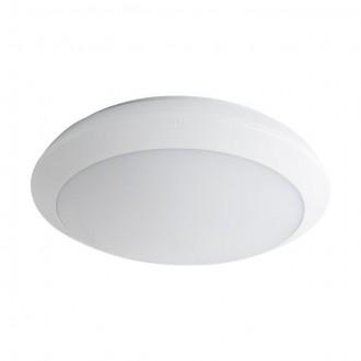 KANLUX 19062 | Daba Kanlux zidna, stropne svjetiljke svjetiljka okrugli sa senzorom standby funkcija 1x LED 1300lm 4000K IP66 IK10 bijelo