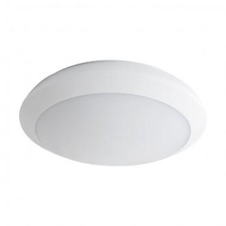 KANLUX 19063 | Daba Kanlux zidna, stropne svjetiljke svjetiljka okrugli sa senzorom standby funkcija 1x LED 1900lm 4000K IP66 IK10 bijelo