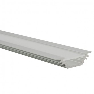 KANLUX 19164 | Kanlux aluminijski led profil E - bez sjenila - 1m za max. 10 mm LED trake aluminij