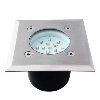 KANLUX 22051 | Gordo Kanlux ugradbena svjetiljka četvrtast 100x100mm 1x LED 6200 - 6800K IP66 IK10 plemeniti čelik, čelik sivo, prozirno