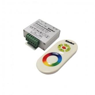 KANLUX 22140 | Kanlux upravljač RGB LED RF pravotkutnik srebrno, bijelo