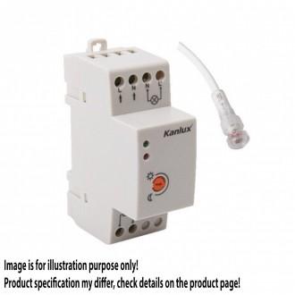 KANLUX 22370 | Kanlux svjetlosni senzor - sumračni prekidač DIN35 modul IP65/20 bijelo