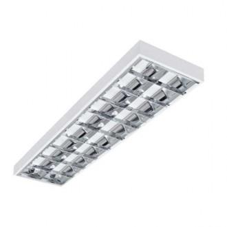 KANLUX 22672 | Notus-4LED Kanlux stropne svjetiljke, visilice armatura pravotkutnik namenjeno za izvor svjetlosti T8 LED 2x G13 / T8 LED bijelo