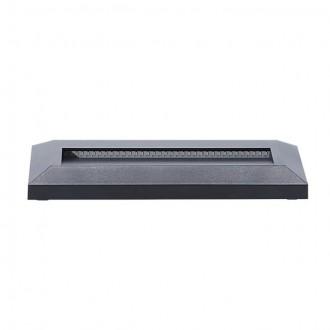 KANLUX 22760 | Onstar-Croto Kanlux zidna svjetiljka pravotkutnik 1x LED 60lm 6500K IP65 IK09 sivo