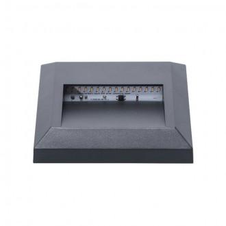 KANLUX 22770 | Onstar-Croto Kanlux zidna svjetiljka četvrtast 1x LED 30lm 6500K IP65 IK09 sivo