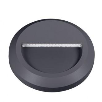 KANLUX 22771 | Onstar_Croto Kanlux zidna svjetiljka okrugli 1x LED 30lm 6500K IP65 IK09 sivo