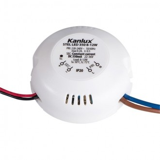 KANLUX 23070 | Kanlux LED napojna jedinica 350mA DC 8-12W 22-36V okrugli bijelo