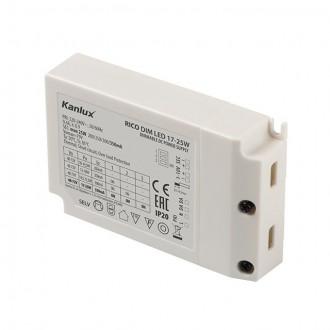 KANLUX 23090 | Kanlux LED napojna jedinica DIM. 200/250/300/350mA DC 17-25W 48V-72V pravotkutnik podesivo bijelo