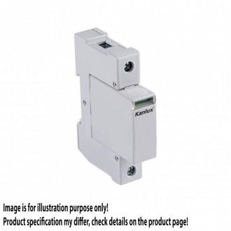 KANLUX 23130 | Kanlux modul za regulisanje previsokog napona DIN35 modul, T2/C, 40kA - 1P svjetlo siva