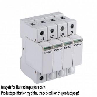 KANLUX 23133 | Kanlux modul za regulisanje previsokog napona DIN35 modul, T2/C, 160kA - 4P svjetlo siva