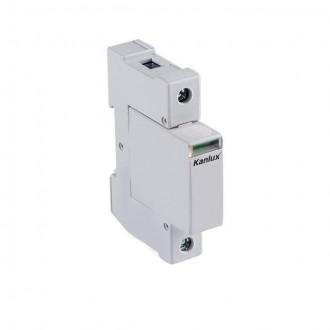KANLUX 23134 | Kanlux modul za regulisanje previsokog napona DIN35 modul, T1+T2/B+C, 50kA - 1P svjetlo siva