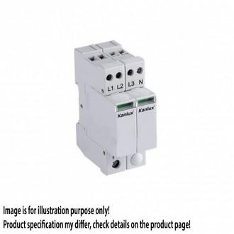 KANLUX 23137 | Kanlux modul za regulisanje previsokog napona DIN35 modul, T1+T2/B+C, 200kA, 3P+N svjetlo siva