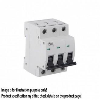 KANLUX 23154 | Kanlux nadstrujni prekidač DIN35, C16/3 svjetlo siva, crno