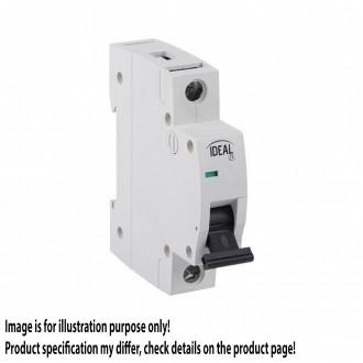 KANLUX 23160 | Kanlux nadstrujni prekidač DIN35, C32/1 svjetlo siva, crno