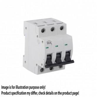 KANLUX 23166 | Kanlux nadstrujni prekidač DIN35, C63/3 svjetlo siva, crno