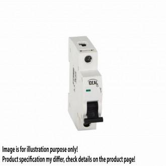 KANLUX 23177 | Kanlux nadstrujni prekidač DIN35, B63/1 svjetlo siva, crno