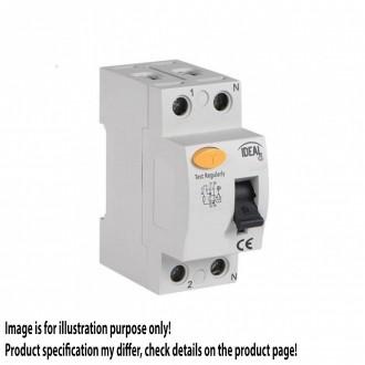 KANLUX 23180 | Kanlux strujni prekidač zaštite (relej FI) 25A DIN35 modul, 2P svjetlo siva, crno, žuto