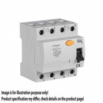 KANLUX 23184 | Kanlux strujni prekidač zaštite (relej FI) 40A DIN35 modul, 4P svjetlo siva, crno, žuto