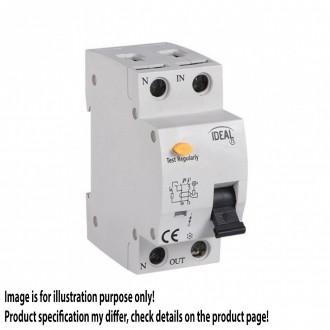 KANLUX 23217 | Kanlux strujni prekidač zaštite (relej FI) + nadstrujna zaštita 16A DIN35 modul, 2P C AC svjetlo siva, crno, žuto