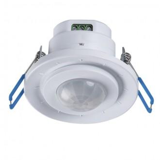KANLUX 23451 | Kanlux sa senzorom PIR 360° ugradbene svjetiljke okrugli bijelo