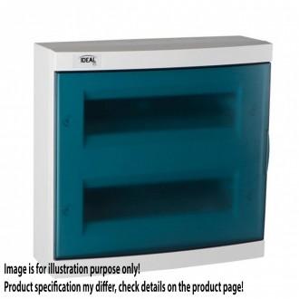KANLUX 23614 | Kanlux zidna radjelna kutija DIN35, 24P pravotkutnik IP30 IK07 bijelo, sivo-plavo