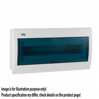 KANLUX 23619 | Kanlux ugradna razdjelna kutija DIN35, 18P pravotkutnik IP30 IK07 bijelo, sivo-plavo
