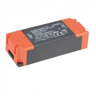 KANLUX 23860 | Kanlux LED napojna jedinica 12V DC 0-15W 1,25A pravotkutnik sivo, narančasto