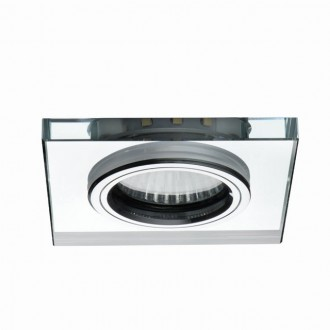 KANLUX 24417 | Soren Kanlux ugradbena svjetiljka četvrtast Ø90mm 1x GU10 + 1x LED 210lm prozirno, hladno bijela boja