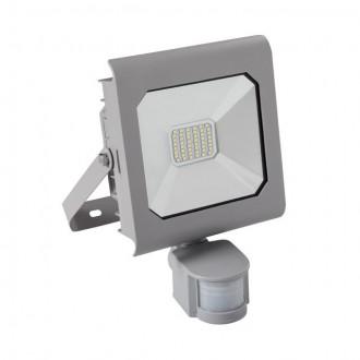 KANLUX 25581 | Antra Kanlux reflektor svjetiljka pravotkutnik sa senzorom, svjetlosni senzor - sumračni prekidač elementi koji se mogu okretati 1x LED 2300lm 4000K IP65 sivo