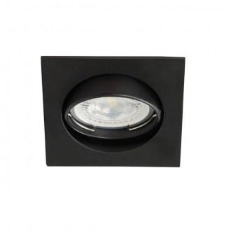 KANLUX 25991 | Navi Kanlux ugradbena svjetiljka četvrtast pomjerljivo 81x81mm 1x MR16 / GU5.3 crno mat