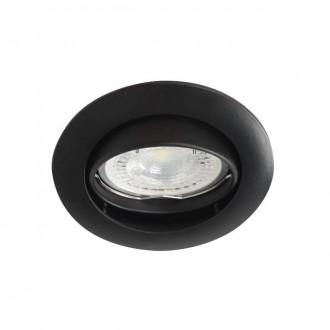 KANLUX 25996 | Vidi Kanlux ugradbena svjetiljka okrugli pomjerljivo Ø82mm 1x MR16 / GU5.3 crno