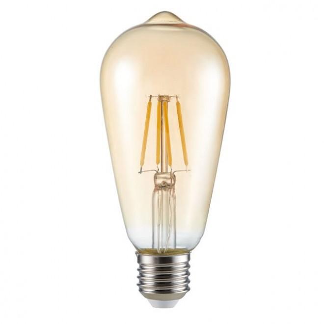 KANLUX 26041 | E27 6W -> 51W Kanlux Edison ST64 LED izvori svjetlosti filament 650lm 2500K 300°