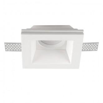 KANLUX 26071 | Imoe Kanlux ugradbena svjetiljka četvrtast može se bojati, bez grla 110x110mm 1x MR16 / GU5.3 bijelo