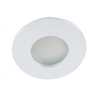 KANLUX 26303 | Qules Kanlux ugradbena svjetiljka okrugli Ø83mm 1x GU10 IP44/20 bijelo