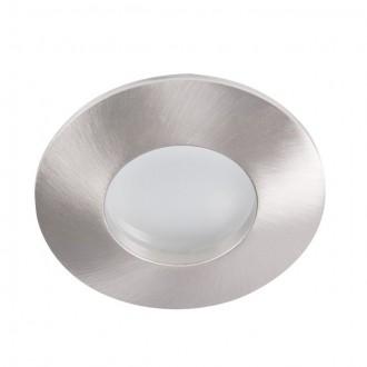 KANLUX 26304 | Qules Kanlux ugradbena svjetiljka okrugli Ø83mm 1x GU10 IP44/20 kromni mat