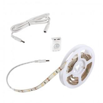 KANLUX 26322 | Kanlux-LS-Set Kanlux LED traka svjetiljka sa senzorom baterijska/akumulatorska 1x LED 180lm 3000-3900K IP54/20 bijelo