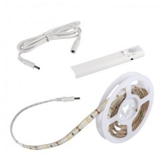 KANLUX 26323 | Kanlux-LS-Set Kanlux LED traka svjetiljka sa senzorom, s prekidačem baterijska/akumulatorska 1x LED 180lm 3000-3900K IP54/20 bijelo