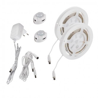KANLUX 26325   Kanlux_LS_Set Kanlux LED traka svjetiljka 2X sa senzorom 2x LED 240lm 3000-3900K IP54/20 bijelo