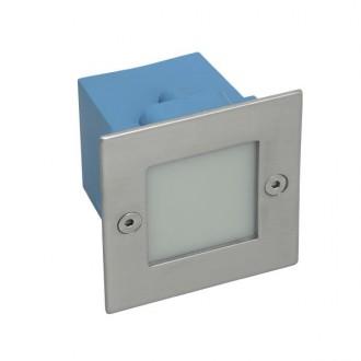 KANLUX 26461 | Taxi-LED Kanlux ugradbena svjetiljka četvrtast 70x70mm 1x LED 10lm 4000K IP54 kromni mat