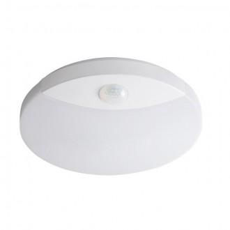 KANLUX 26520 | Sanso Kanlux zidna, stropne svjetiljke svjetiljka okrugli sa senzorom 1x LED 1250lm 4000K IP44 bijelo